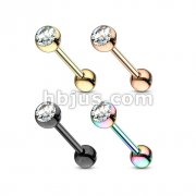 80 Pcs PVD Over 316L Surgical Steel Jewel set Ball Barbells Bulk Packs (20 Pcs x 4 Color)