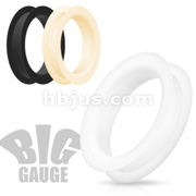 Double Flat Flared Tunnel Plug Ultra Soft Silicone Flexible