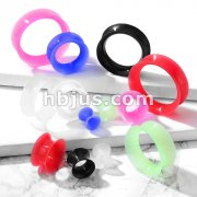 Double Flared Saddle Ear Skin Tunnel Ultra Soft Silicone Flexible