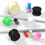 Vibrant Color Silicone Ultra Flexible Double Flat Flared Plug
