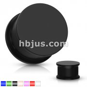 Vibrant Color Silicone Ultra Flexible Double Flat Flared Plug