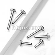 10 Pc Pack 316L Surgical SteelInternally threaded 3mm Base Flat Back Stud, Labret Post.