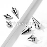 10pc Pack Internally Threaded 316L Surgical Steel Spike Ends
