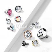 10 pc Pack Internally Threaded 316L Surgical Steel Bezel Set Gem Balls
