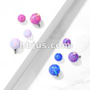 Opal Balls 316L Surgical Steel Internally Threaded