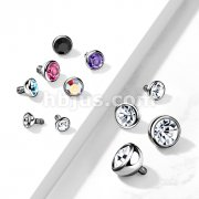 10 pc Pack Implant Grade Titanium Internally Threaded Bezel Set Gem Balls
