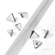 10 pc Pack Implant Grade Titanium Internally Threaded Flat Triangle Top Parts