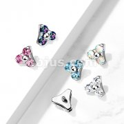 Implant Grade Titanium Internally Threaded CZ Triangle Top Parts