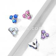 Implant Grade Titanium Internally Threaded Opal Triangle Top Parts