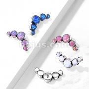 Implant Grade Titanium Internally Threaded 5 Round Opal Bezel Set Top Parts