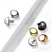 10 pc Pack Implant Grade Titanium Internally Threaded Dome Top Parts