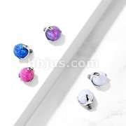 Implant Grade Titanium Internally Threaded Opal Ball Claw Set Top Parts