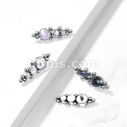 Implant Grade Titanium Internally Threaded Tops with 3 Descending CZ and Ball Clusters