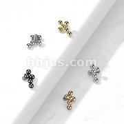 Implant Grade Titanium Internally Threaded Bead Cross Top