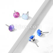 Implant Grade Titanium Threadless Push In Opal Prong Set Tops