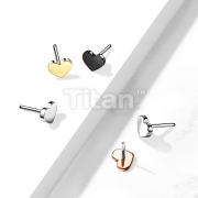 Implant Grade Titanium Threadless Push In Heart Tops