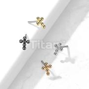Implant Grade Titanium Threadless Push In Top Beaded Ball Cross