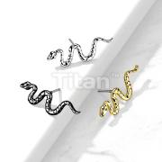 Implant Grade Titanium Threadless Push In Snake Top