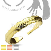 Adjustable Toe Ring/Mid Ring Tribal Feather