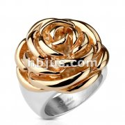 Rose Frontal Rose Gold IP Ring Stainless Steel