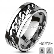 Stainless Steel Rings/ Spinner Chain Center Package 60pc Pack (6pc x 10 size, Ring size 5~14)