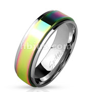 Rainbow Spinner Center Stainless Steel Ring