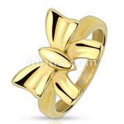 Ribbon Gold IP Stainless Steel Ring