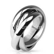 Triple Band Rolling Ring 316L Stainless Steel
