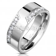 12 CZ CNC Machine Set Stainless Steel Ring