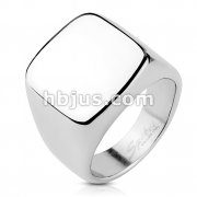 Square Signet Stainless Steel Ring