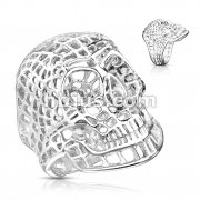 Mesh Skull Stainless Steel Rings