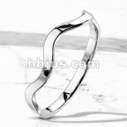 Wavy Line Stackable Stainless Steel Ring