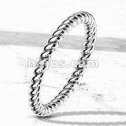 Braided Stackable Stainless Steel Ring