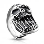 Laughing Skull Stainless Steel Casting Rings
