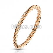Twisted Rose Gold IP Stainless Steel Ring