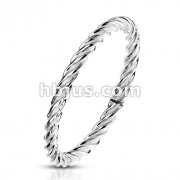 Twisted Stainless Steel Ring