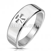 Celtic Cross Cut Out Stainless Steel Ring