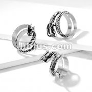 Coiled Dragon Stainless Steel Casting Rings