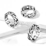 Link Chain Stainless Steel Ring