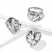 Royal Straight Flush Stainless Steel Ring