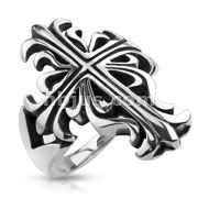 Celtic Cross Casted Stainless Steel Ring