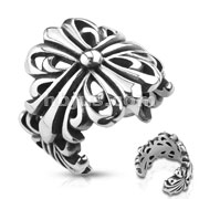 Wrapping Casted Celtic Cross Stainless Steel Ring