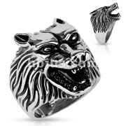 Wolf Head Stainless Steel Casting Rings