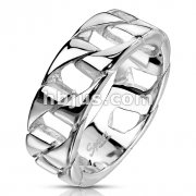 Stainless Steel Thick Square Chain Ring