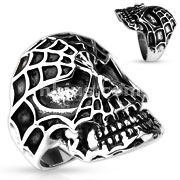 Spider Web Skull 316L Stainless Steel Cast Ring