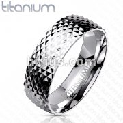 Spikes Surface Solid Titanium ring