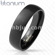Brushed Surface with Glossy Interior Classic Dome Black Titanium Rin