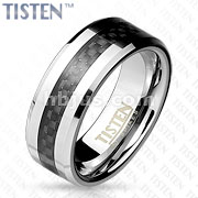 Black Carbon Fiber Center with Beveled Edge Tisten Ring