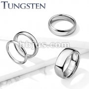 Classic Dome WeddingBand Tungsten Carbide Rings