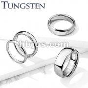 Classic Dome WeddingBand Tungsten Carbide Rings